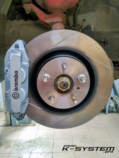 big brake kit  brembo front axle epfn silver clio  rs calipers  systempro