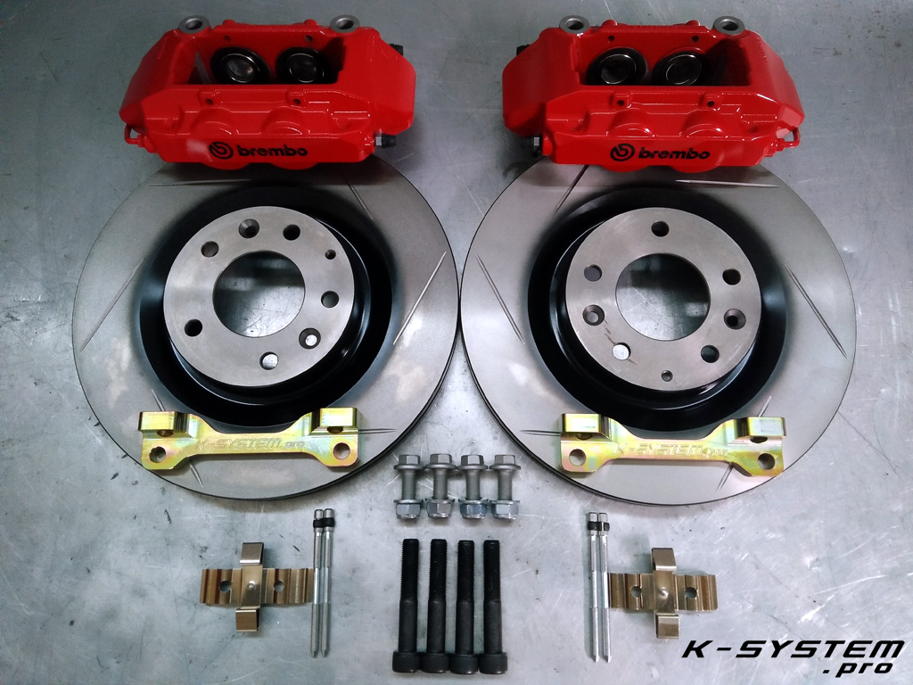 Brembo Brake Kit >> Big Brake Kit 324x30mm Brembo Front Axle S2000 Red Clio 3 Rs Calipers