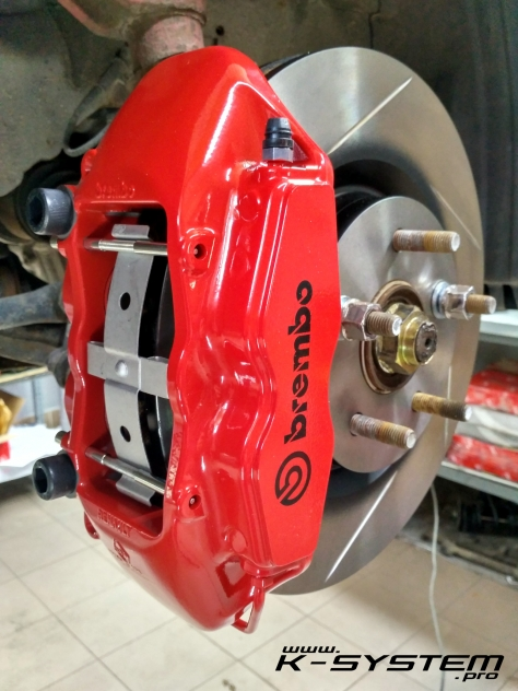 big brake kit  brembo front axle epfn red megane  rs calipers  systempro