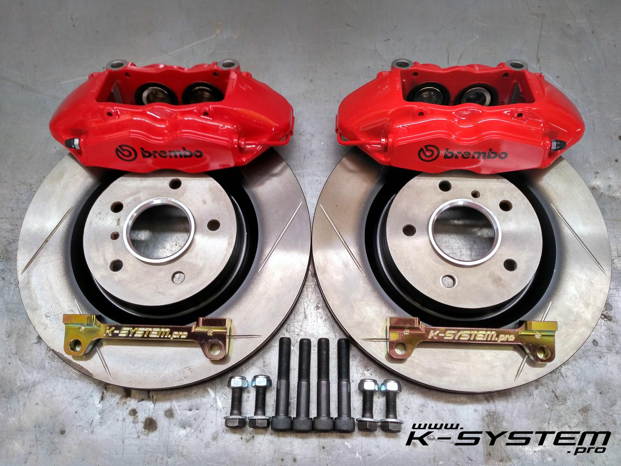 Brembo Brake Kit >> Big Brake Kit 324 30 Brembo Front Axle Ep3 Fn2 Red Megane 3